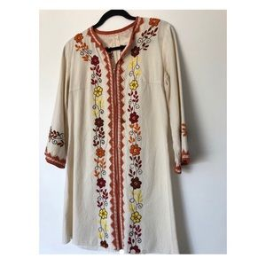 70s Vintage Embroidered Dress
